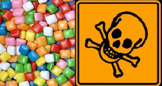 В каждой жевательной резинке от 15 до 18 вредных и опасных добавок!