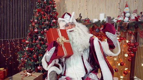 Дед Мороз с подарками. Стихи про Новый Год