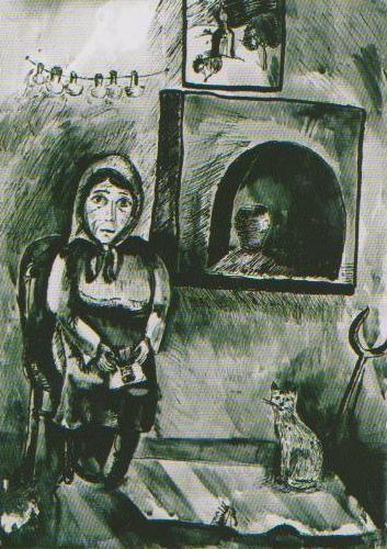 Дети рисуют войну. Мать солдата. Вера Пяткова, 10 лет