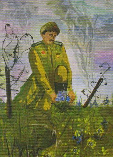 Дети рисуют войну. Пришла победная весна. Рис. Ирины Шилиной, 14 лет