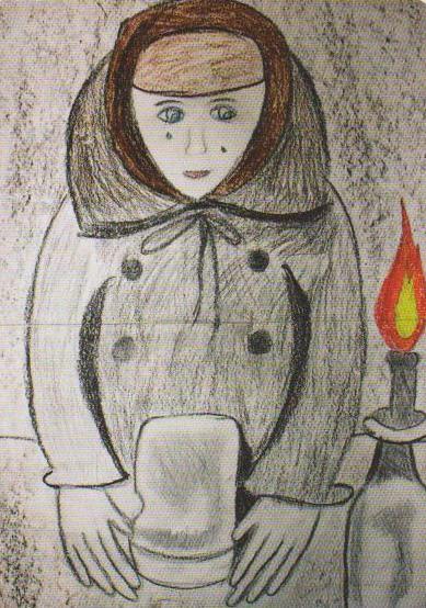 Дети рисуют войну. Рис. Ксении Якуниной, 11 лет