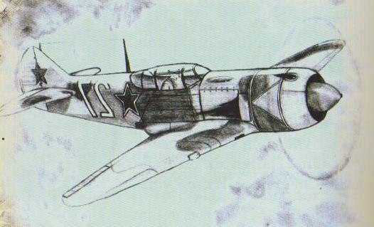 Дети рисуют войну. Советский самолёт. Саша Пастухов, 10 класс