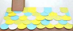 Новогодние поделки своими руками: Черепица из цветной бумаги для домика