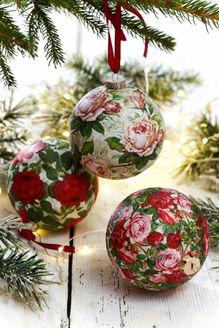 Новогодние поделки своими руками: декупаж новогодних шаров