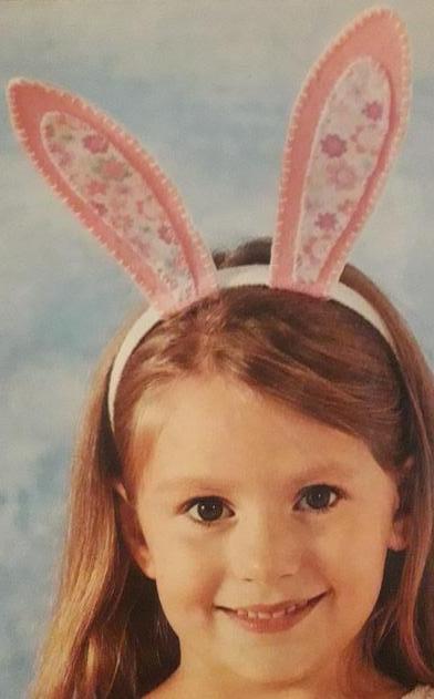 """Ободок с ушами зайца - """"Пасхальный зайчик"""""""