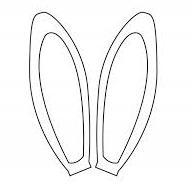 Выкройка уши зайца. Пасхальные поделки
