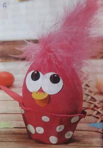 Пасхальные цыплята из яиц