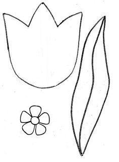 Шаблон цветков для пасхальных открыток