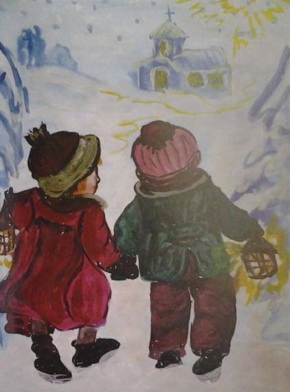 Дети в Рождественскую ночь
